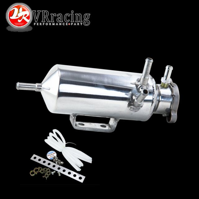 VR RACING- New Aluminum Breather catch tank Overflow Tank Type for Track or Drift Car For Honda Toyota BMW Nissan VR-TK03(China (Mainland))