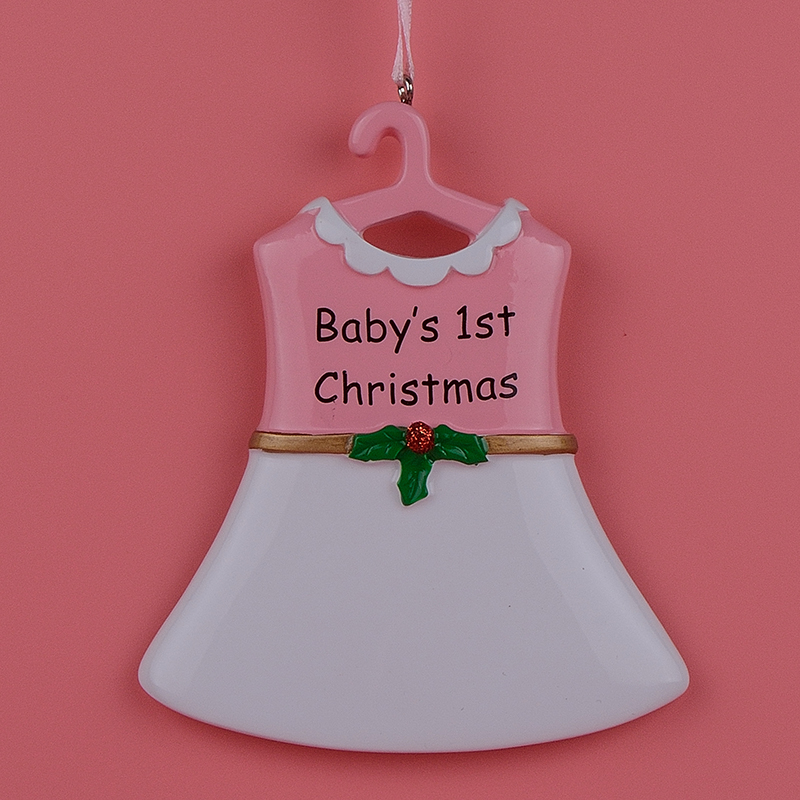 Baby Boy Gifts For Christmas : Baby st resin hang boy suit girl skirt personalized