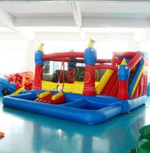 jumper castle Kindergarten UL Kingdom Inflatable Bounce House for sale Castle Moonwalk With Pool(China (Mainland))