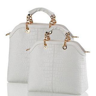 2015 new fashion handbags leather bag handbag female white classic female package slanting cross bag crocodile pattern handbag(China (Mainland))