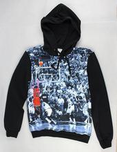 2015 весной новый 3D капюшоном майкл джордан снимать корзина зуммер ударные печатных мужская пуловер