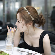 Sunshine fashion flower hair headband Accessories new fashion hollow out rose hair jewelry Hairbands gold plated for women(China (Mainland))