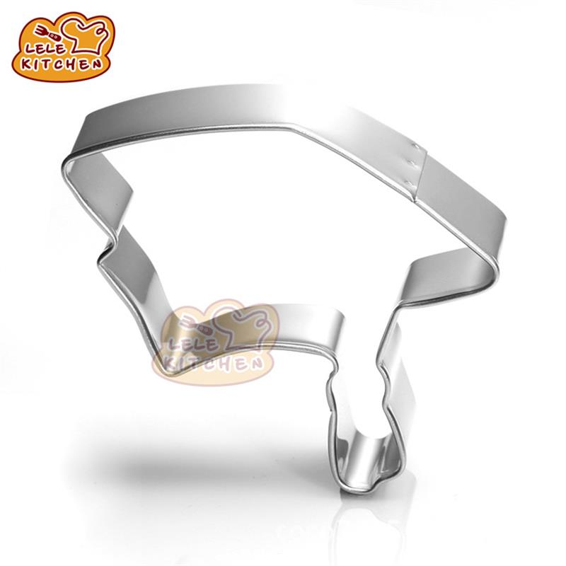Graduation Cap hat Cookie Biscuit Cutter Mold Stainless Cake Bakeware Fondant Candy Chocolate Kitchen Baking Supplies MB-d303(China (Mainland))