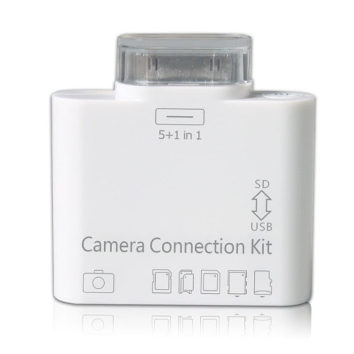 5 in 1 USB SD/TF Card Reader Adapter Camera Connection Kit for Apple iPad2/3 download the photos()