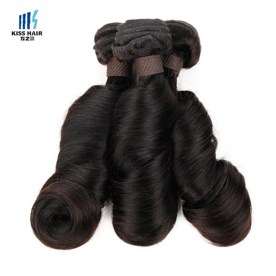 Funmi Hair Romance Curl 3 Bundles 8A Unprocessed Raw Virgin Indian Remy Human Hair Weave Bundles Kiss Hair Fashion Fummi Hair(China (Mainland))