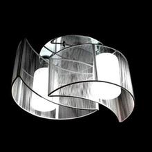 2 luce semi montaggio a filo soffitto luce con paralume in vetro e copertura del panno, chrome(China (Mainland))