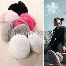 Korean Wild Winter Warm Ear Muffs Plush Earmuffs Lovely Solid Back Wearing Ears Warmer Genie Costumes Celular Cache Oreilles (China (Mainland))