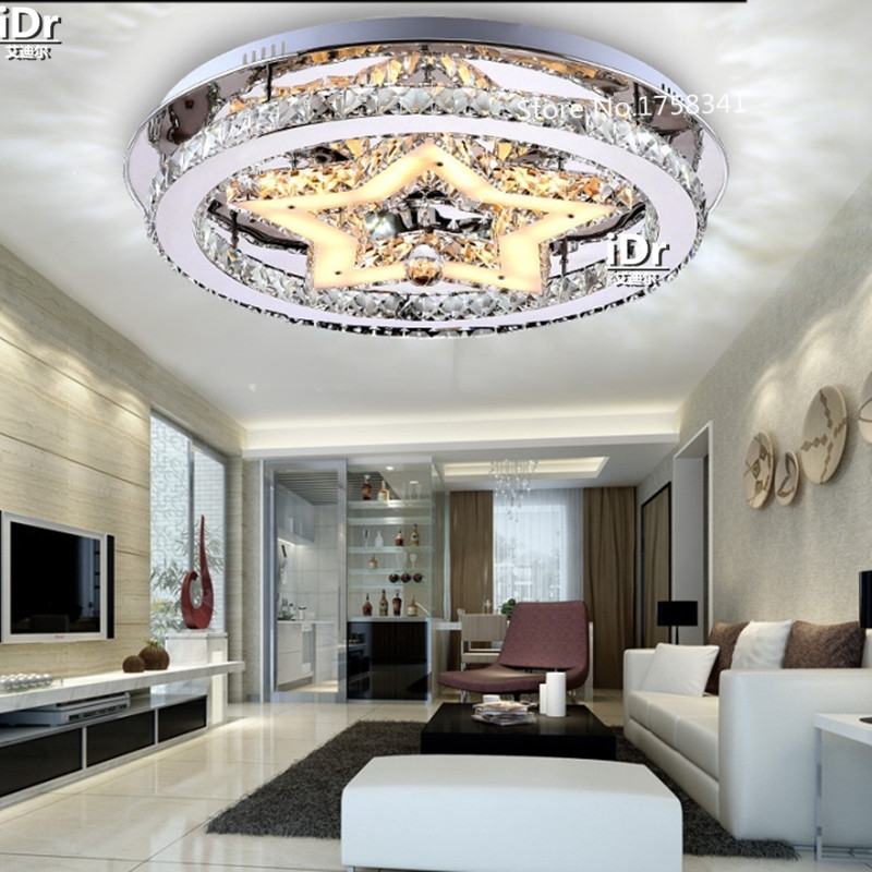 Modern Ceiling Light LED Crystal lamp circular bedroom living room lights restaurant round ceiling with lighting(China (Mainland))