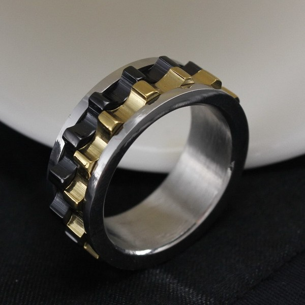 Moveable Gear Ring 316 Stainless Steel Ring Top Quality Titanium Ring Wholesale Jewelry Supplier Free Shipping
