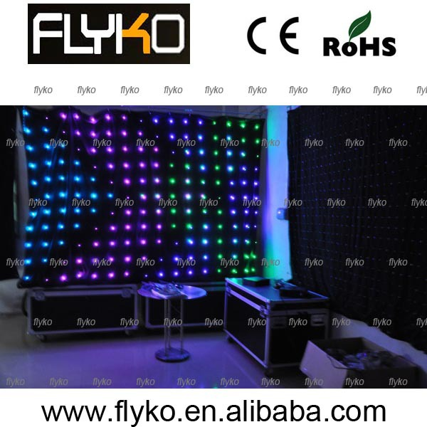free shipping full color cheap video led cutain(China (Mainland))