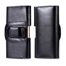 """Luxury pu Leather Men Waist Bag Clip Belt Pouch Mobile Phone Holster Case Cover for Cubot X9 5"""" inch Universal Protective Cases(China (Mainland))"""