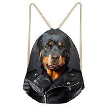 Забавные 3D сумки для йоги с принтом собаки, женские сумки на шнурке, модные рюкзаки для девочек-подростков, рюкзаки для путешествий, мягкие к...(China)