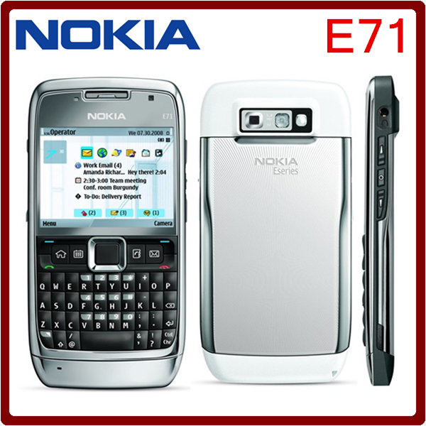 Original E71 Nokia Mobile Phone GPS Wi-Fi 3.2MP 3G Unlocked E71 Nokia Cell Phone Refurbished phone Free shipping(China (Mainland))