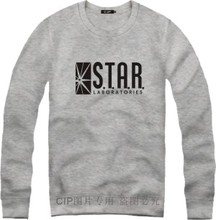 The Flash Star Laboratories Round Neck Hoody Sweatshirts STAR S.T.A.R.Labs Jumper Novelty Anime Pullover Men Sweat Outerwear