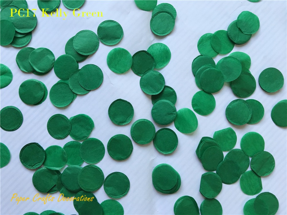 30g(bag) 2.5cm/1inch Kelly Green Circle Tissue Paper Confetti Wedding Party Table Decorations Balloon Filling(China (Mainland))