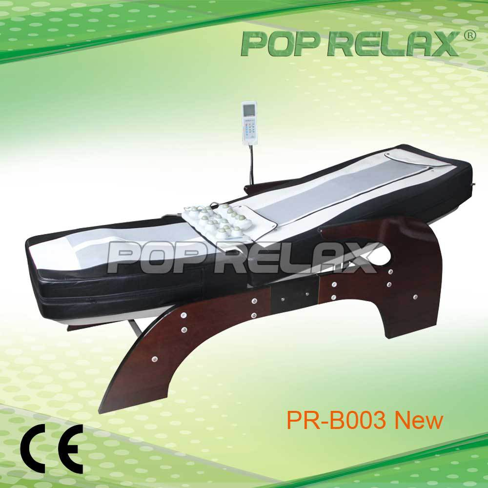 More function than ceragem Nuga best thermal Jade roller infrared heated MP3 music shiatsu massage bed PR-B003 CE ROHS POP RELAX(China (Mainland))