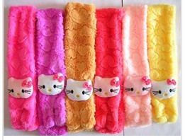 Hello Kitty cartoon Soft shawl muffle Plush Scarf Pink for Girl Children kids neck warmer(China (Mainland))