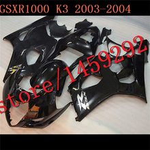 For A Injection mold GSXR1000 2003 2004 black GSX R 1000 2003-2004 GSX-R 1000 03 04 K3 ABS Set Plastic Kit,tool parts(China (Mainland))