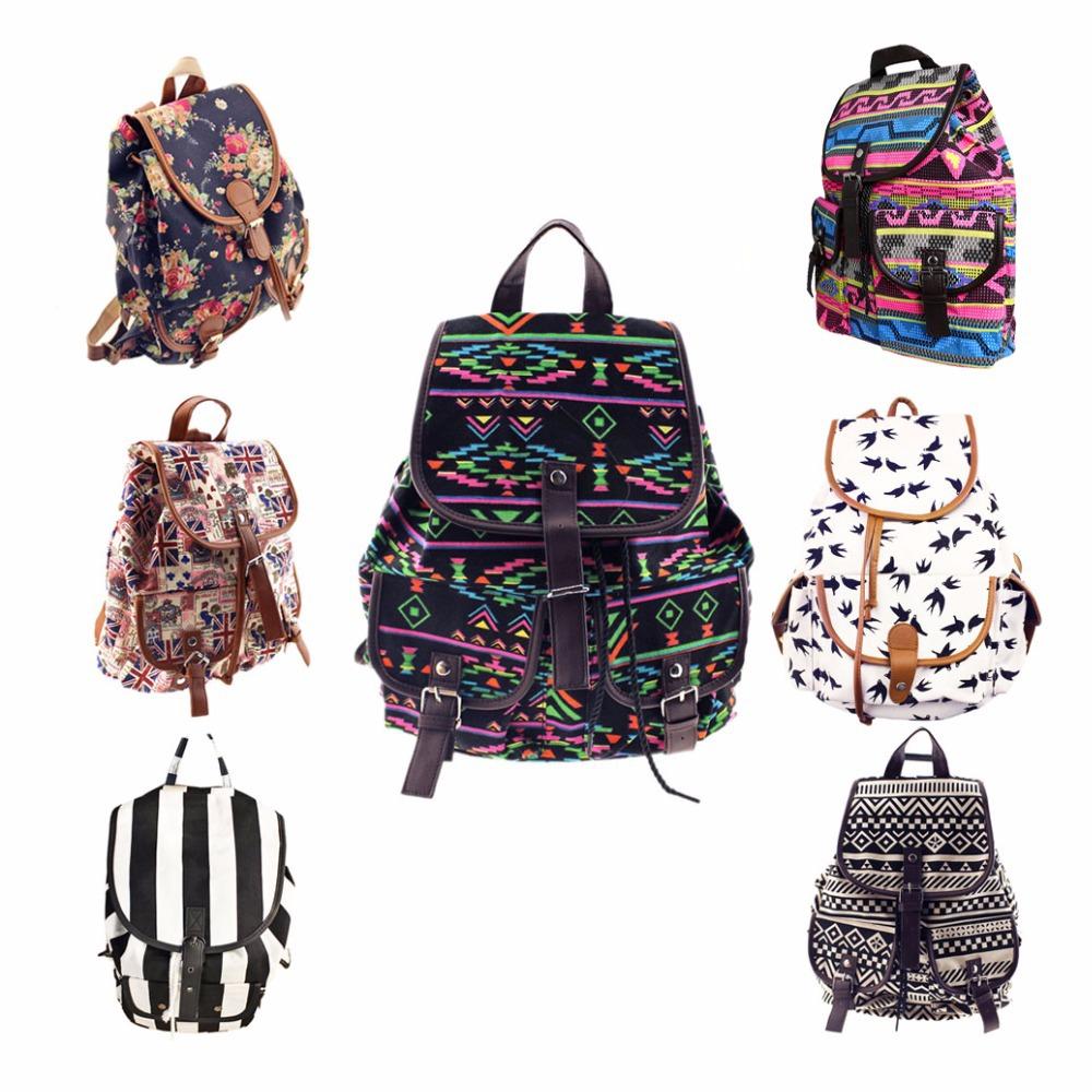 Hot Selling Women's Vintage Canvas Backpack Ethnic Backpacks Girl's School Bag Bookbags Shoulderbag(China (Mainland))