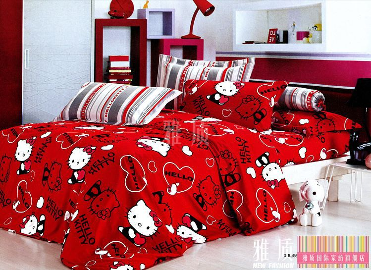 Mickey Mouse And Hello Kitty Bedding Set Kids Bedding Set Bed Set In Bedding Sets From Home