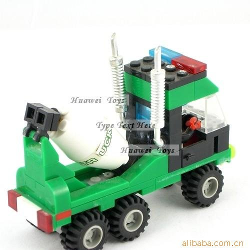 040 801 / / toys / / blocks / / armored truck mixer(China (Mainland))