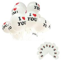 2015 10pcs/lot 12 inch Pearl Latex I LOVE YOU Balloon Celebration Birthday Christmas Wedding party Decorations Aeeceeories(China (Mainland))
