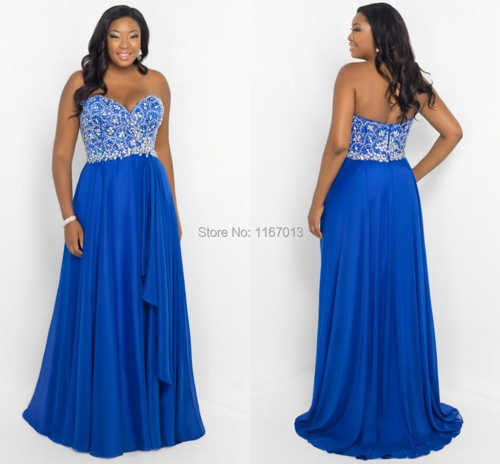 Plus Size Blue Prom Dresses: Jpeg kb long sky blue chiffon beaded ...