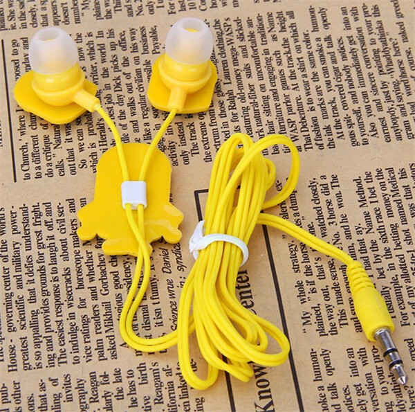 Hot sale high quanlity in ear wired 3 5mm cartoon earphone headphone earbud headset for cellphone
