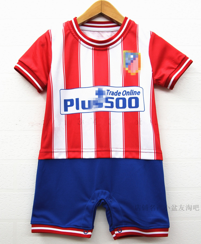 Kids/Bebes Summer Soccer/Football Jersey Kits Rompers Newborn Mesh Maillot Romper/Clothes/Barboteuse For Baby Boy/Girl/Jongen(China (Mainland))