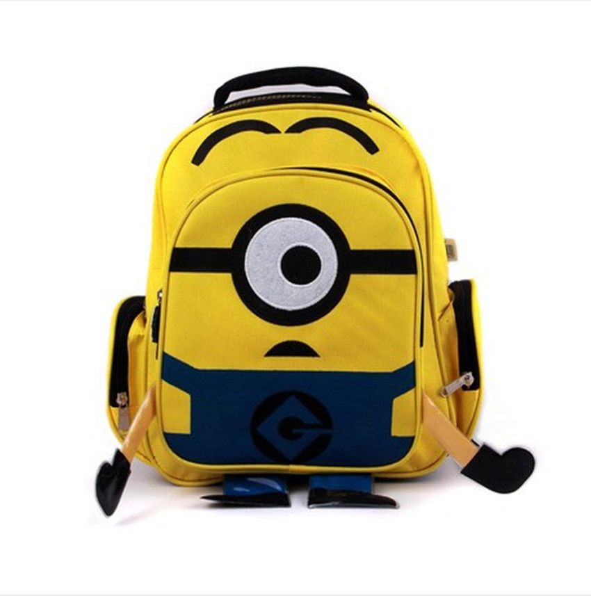 2016 Kids Backpack Childrens Bag Cartoon Lovely Character Beedo Oxford Children School Bags Kindergarten Candy Color Cute Mohila(China (Mainland))