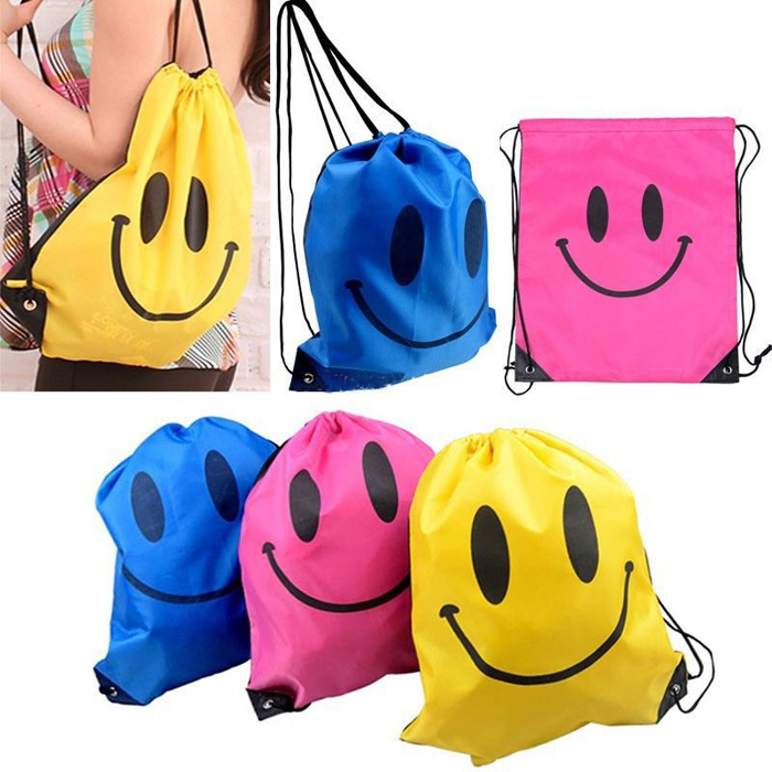Face Drawstring Bag Mochila Swimming Bags For School Backpack For Girls And Boys Cartoon Kids Backpack Fashion(China (Mainland))