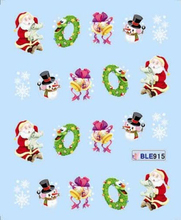 Water decal Nail Stickers cartoon christmas design Stylish Nail Tip Wraps Nail Decoration Tools # BLE 906-916(11 DESIGNS IN 1).