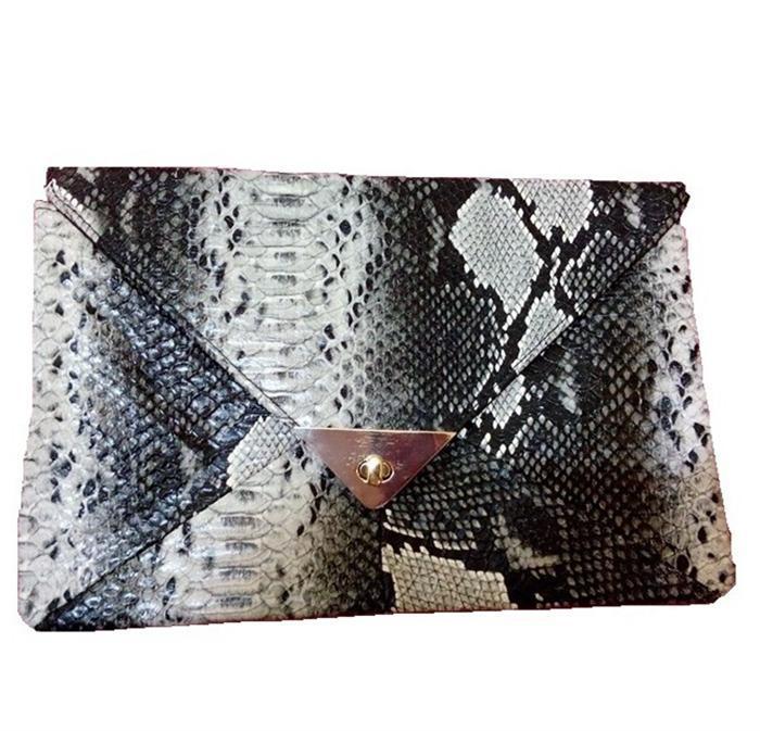 Luxury Clutch New Fashion snake pattern Evening Bag Women wallet Purse bags Handbag Gift desigual Genuine PU leather Clutches(China (Mainland))