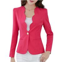 NEW Autumn casual jackets women slim short design suit jackets office women coat clothing -Rosy,M