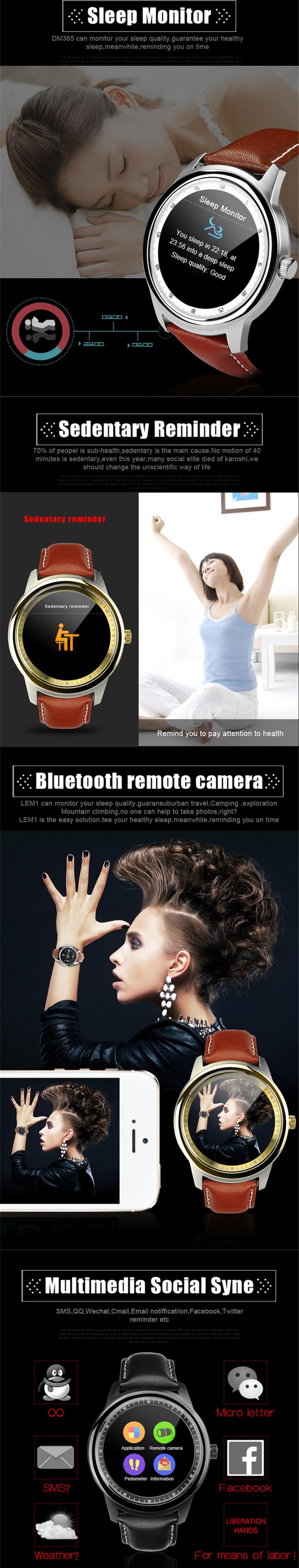 ถูก U watchใหม่สมาร์ทนาฬิกาdm360อัพเกรดdm365บลูทูธ4.0 mtk2502 ip67รอบกันน้ำios a ndroidสำหรับiphone samsung xiaomi