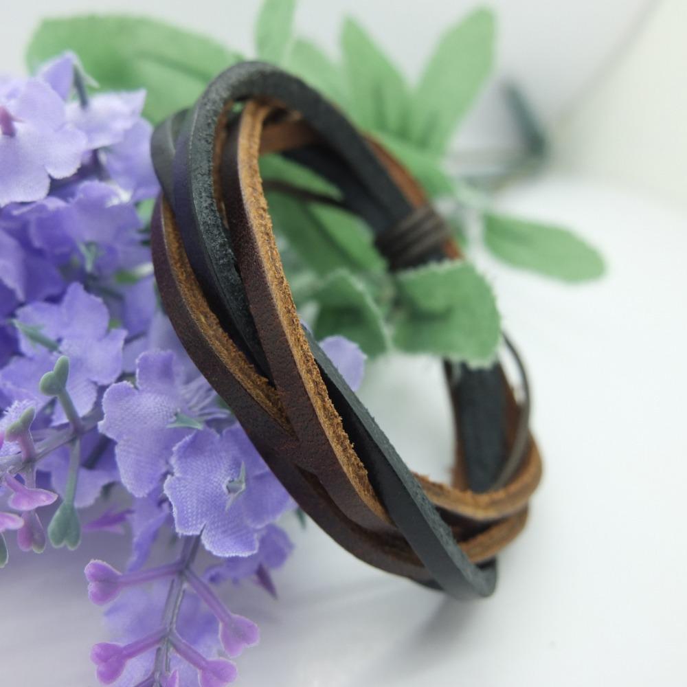 18%OFF , Wrap Multilayer Genuine Leather Bracelet Men Woman, Adjustable Size LB019 - Gelory Z&J Top Fashion Jewelry store