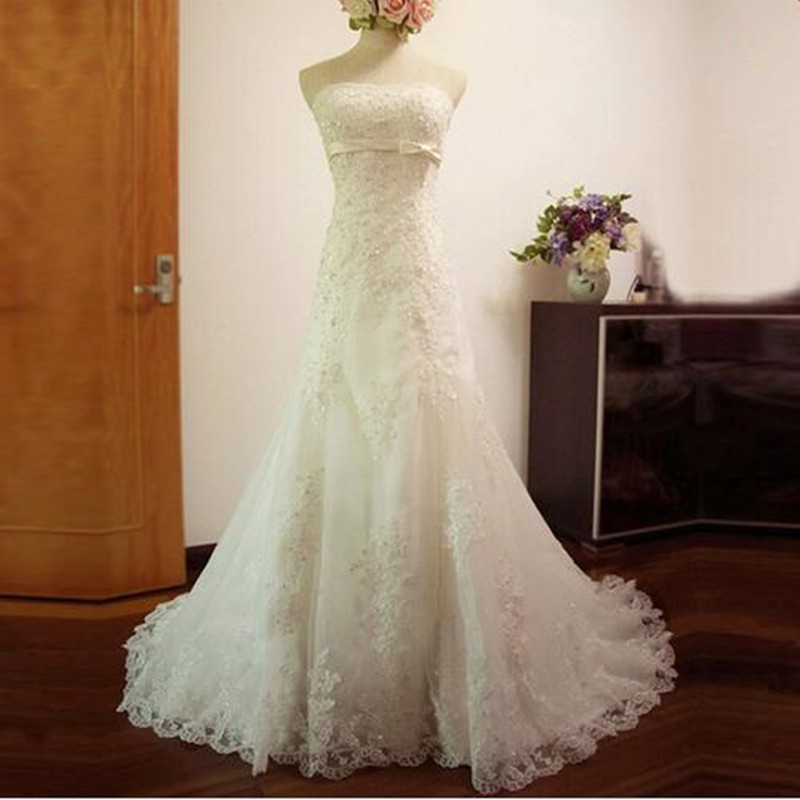 Western lace wedding dress - photo#6