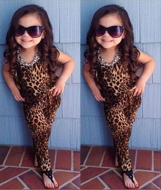2016 New малыш леопарда с длинными рукавами мягкие комбинезоны Playsuit девочек одежда SZ 2 - 7 т