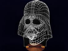 Free Shipping 1Piece 3D Wood Mood Lamp Bulbing Light Star Wars Darth Vader LED Night Light(China (Mainland))