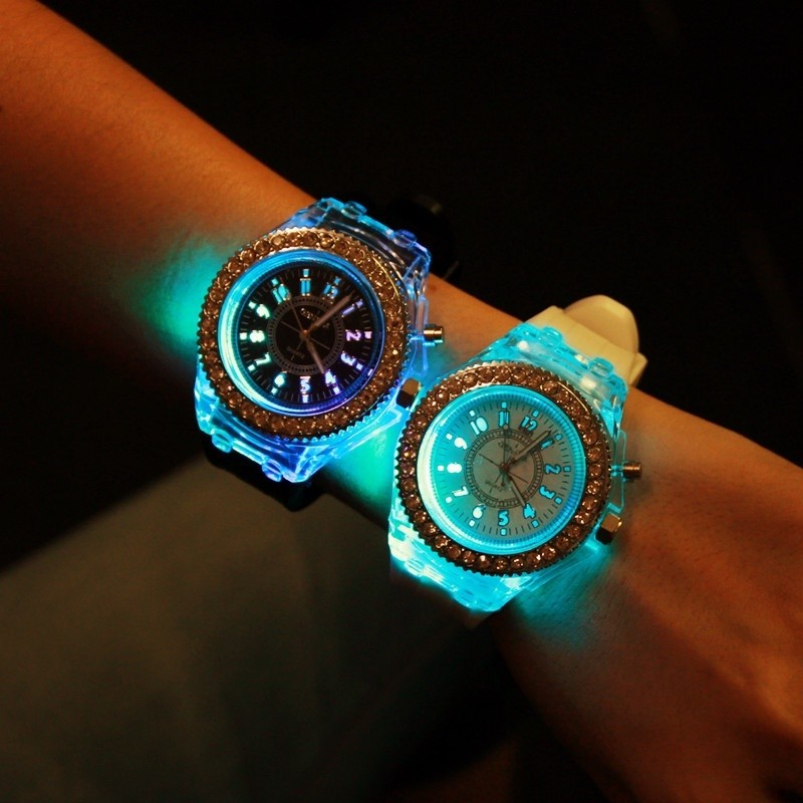 Splendid 2016 New Luxury Brand Watch Women Dress Watches Silicone Led Luminous Watch Casual Clock Hours