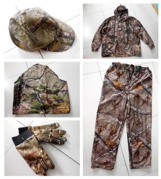 Bionic Camouflage Set Leaves Camouflage Camouflage Field Set Camouflage 5 Pieces Set Hunting Clothes Military Clothing<br><br>Aliexpress