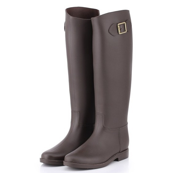 Brown Rain Boots For Women - Boot Hto