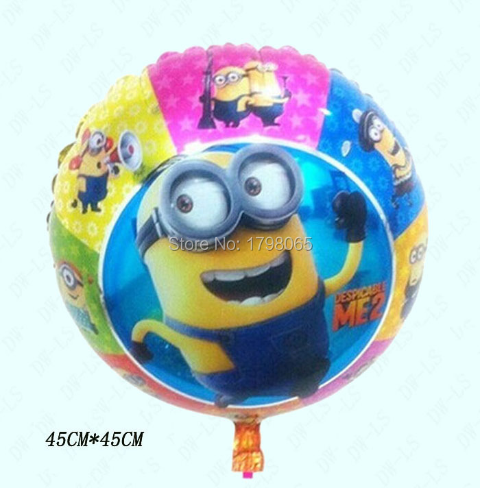 18inch despicable me party minions balloons baby boy shower kids birthday decoration, festa de aniversario, child party supplies(China (Mainland))