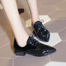 Women fashion silver lavender low square heels ladies comfortable casual pumps 2016 new designer gladiator big size shoes F38-2(China (Mainland))