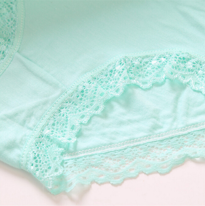 Hot Sale Lenceria Sexy Seamless Modal Panties For Women Underwear Solid Lace Panty Calcinha Ondergoed Ladies Women's Briefs FF51