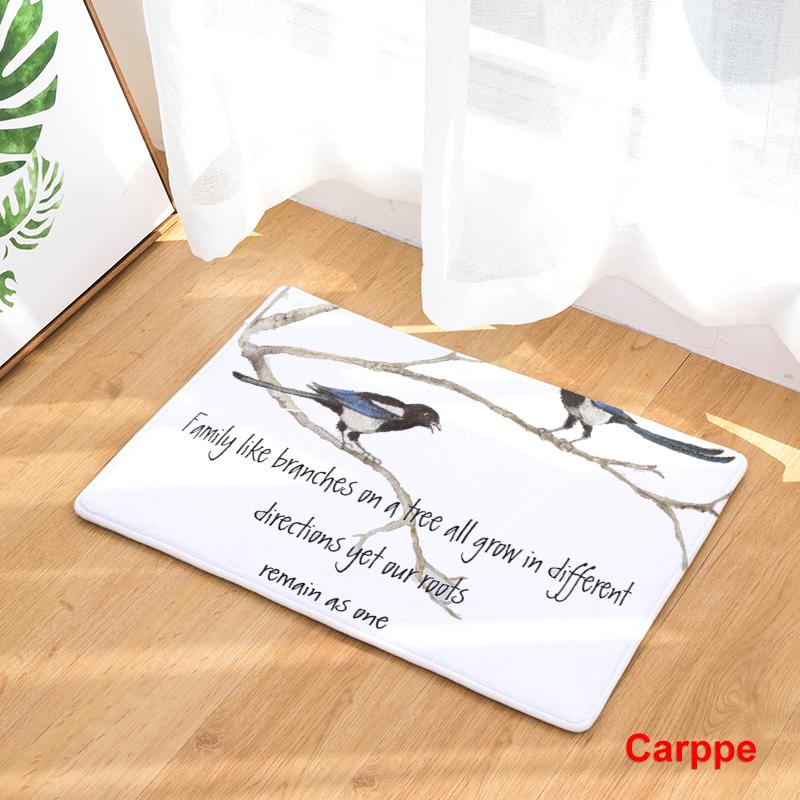 Tatuaje Doble Infinito Revenge cartoon flannel carpet small sparrow printing mat for living room