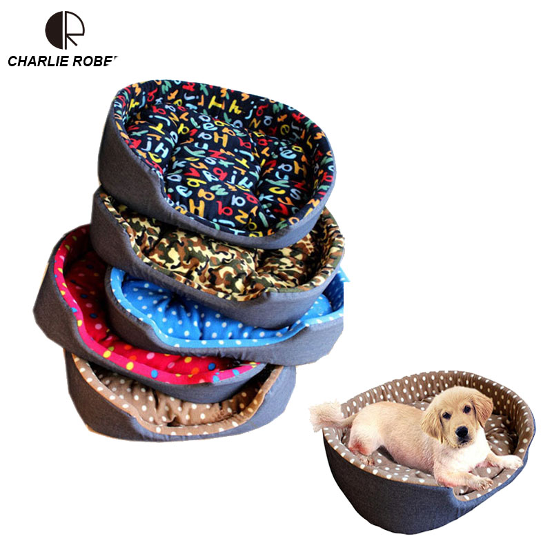 Classical Dotted Home Pet Cat Dog Bed Puppy Dog Basket House Bed Pet Mat Blanket House Beds Small Large Dog Pad Chien Perro(China (Mainland))