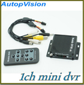 1CH D1 Mini Car Vehicle CCTV DVR Video Recorder with MINI SD card mobile DVR with