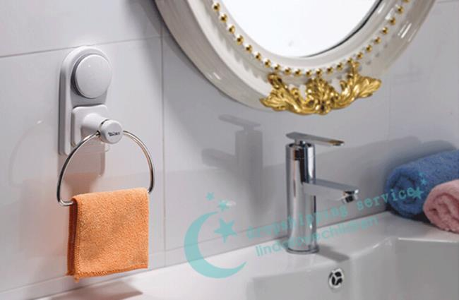 Sucker Towel Rack Bathroom Towel Rack Kitchen Towel Rack Towel Hanging Ring Free Shipping In