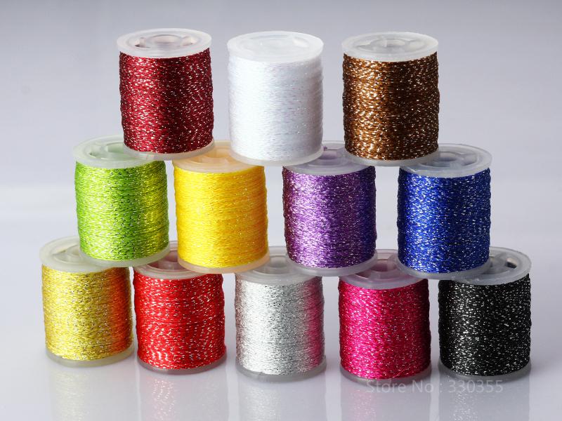 Iridescent Thread Fly Tying Rib Materials(China (Mainland))